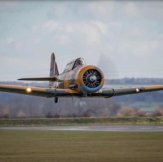 Fly from Eshott Airfield in the infamous AJ841 'Wacky Wabbit' on selected dates in 2018.  #warbird #harvard #raf #ww2 #flight #flyby #xperience #morpeth #northumberland #eshott #gift