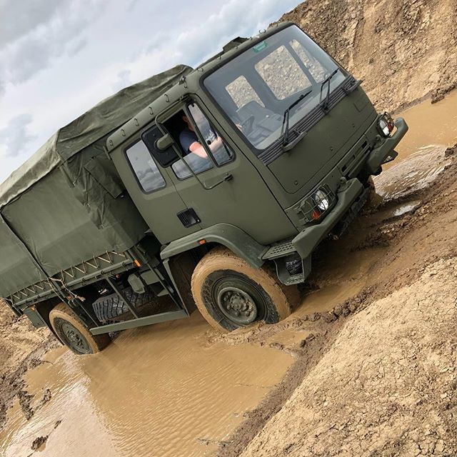 You can now book to drive on our new off road driving course.  We've got a variety of vehicles to play with on the track! #army #truck #driving #experiences #northumberland #morpeth #xperience #mud #stuck #offroad