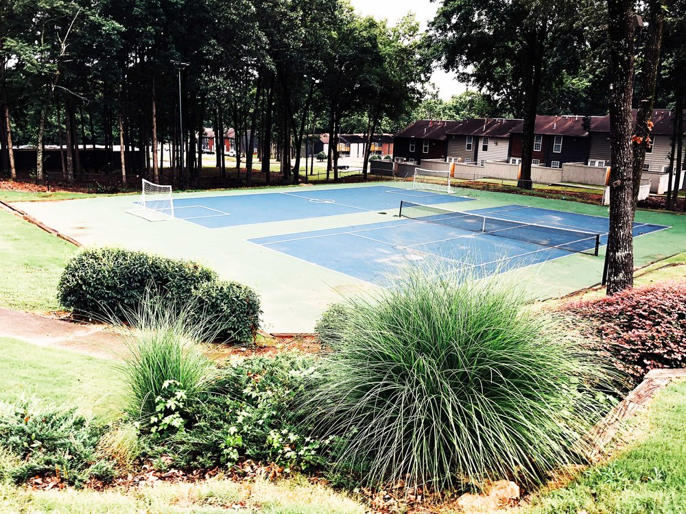 Soccer & Tennis Court - Right in the heart of the Golden GateEnjoy the weekend outdoors playing a game of tennis or soccer on our brand new sports courts! Centrally located, the tennis/soccer courts are easily accessible from all townhome locations!