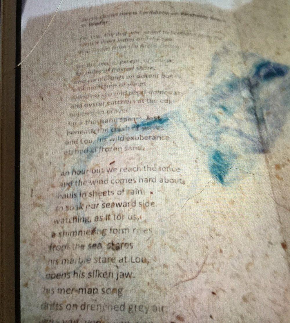 Poem printed on handmade paper