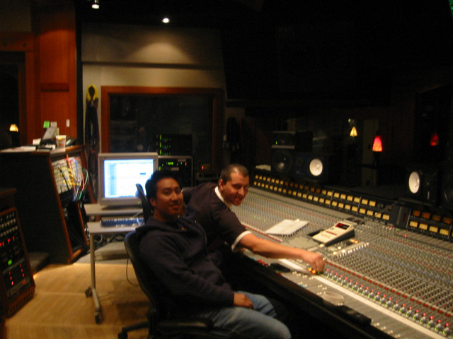 some tracking at Armoury Studios (Vancouver) with engineer Paul Silvera