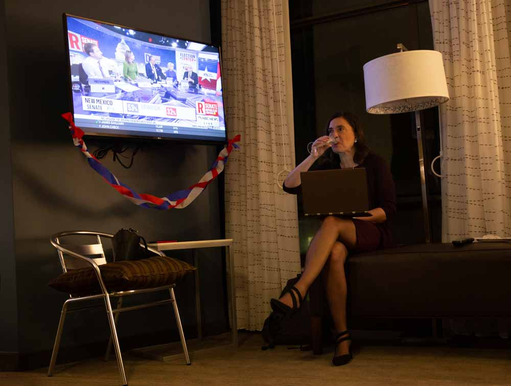 "Even after midnight on election night, Anita Earls doesn't relax, despite her victory. She continues researching how undeclared races are being counted while she drinks champagne.  ""In the words of Nelson Mandela, 'After climbing a great hill, one only finds that there are many more hills to climb,'"" Earls maintains."