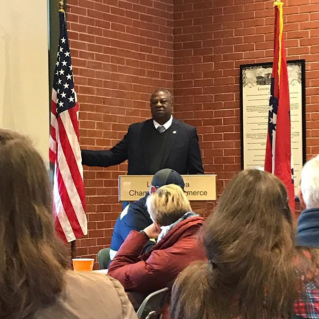 Thank you Colonel Nate Todd for sharing about Veterans Affairs today! Thank you @ricelandcafe for lunch! Congrats Lacy Smith, Miss Arkansas Rice.