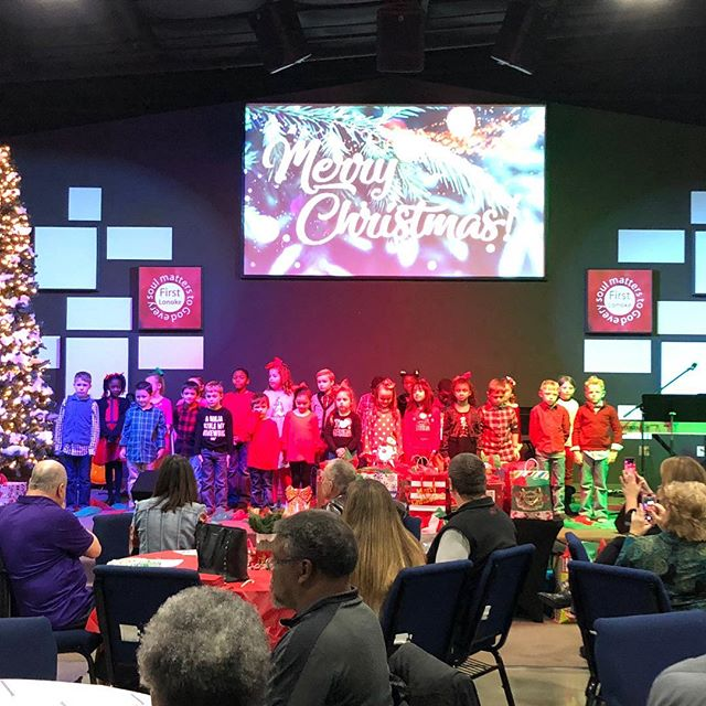 Our Christmas lunch at @firstlonoke was so much fun! Great food! Door prizes! Wonderful singing from @lonoke_schools Great conversation with members and guests! Thank you Hannah Harris for making it a great event! Thanks to the Chamber board and all the members for a great year!
