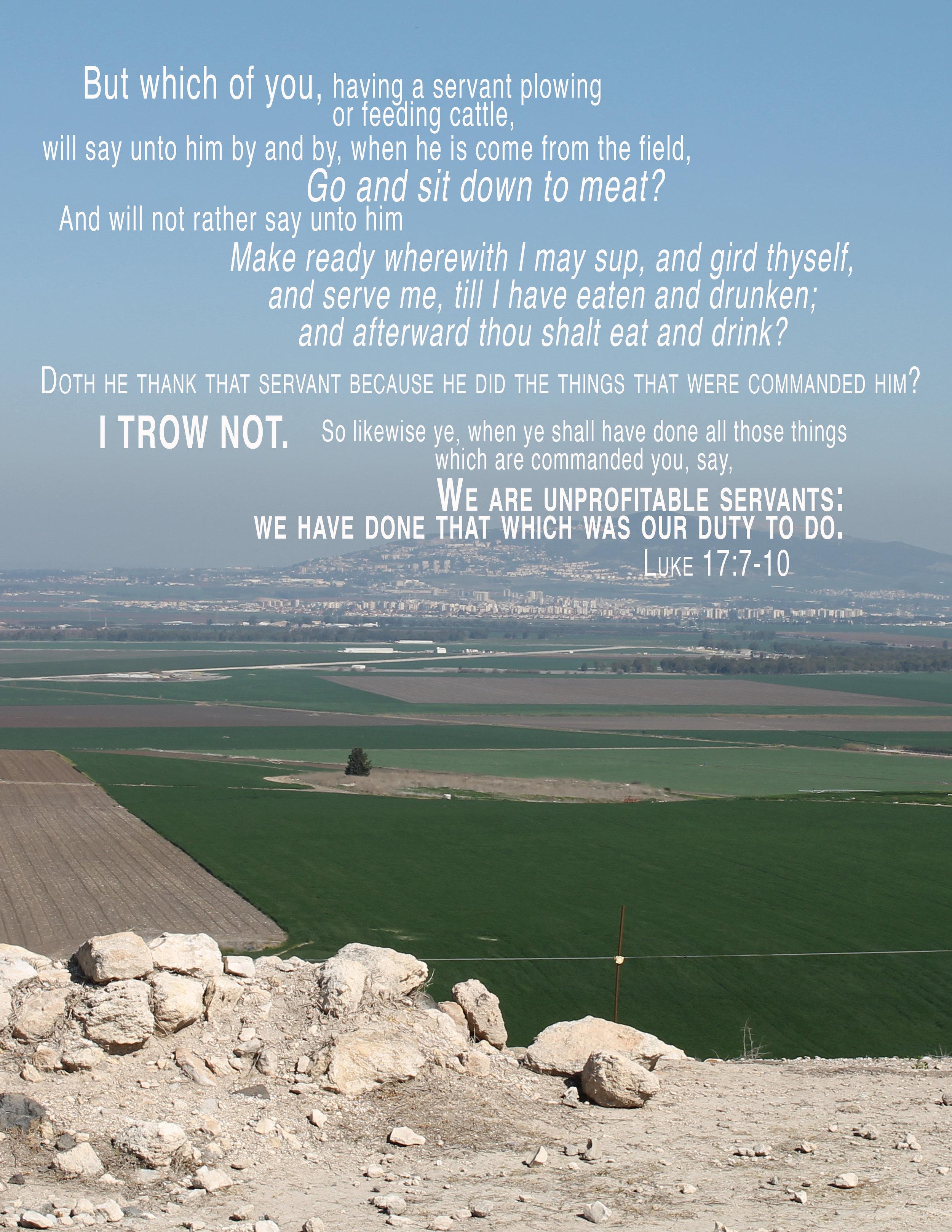 Luke 17-7-10