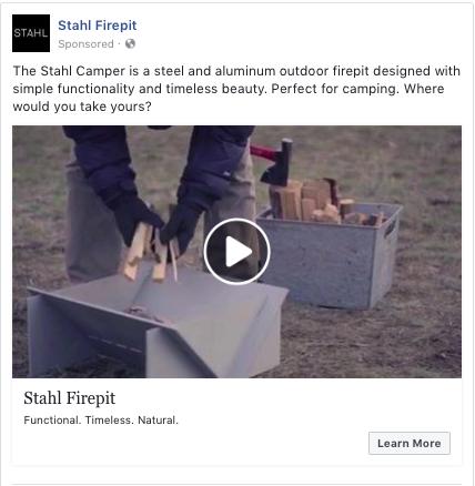 Stahl Firepit ads