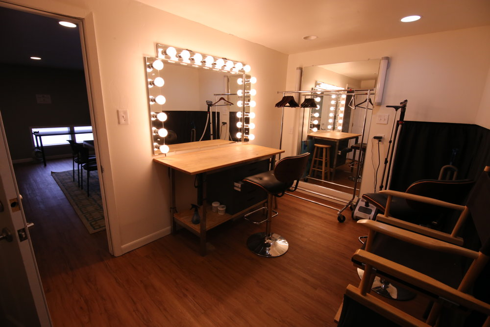 Our makeup room is a great place to perfect your look.