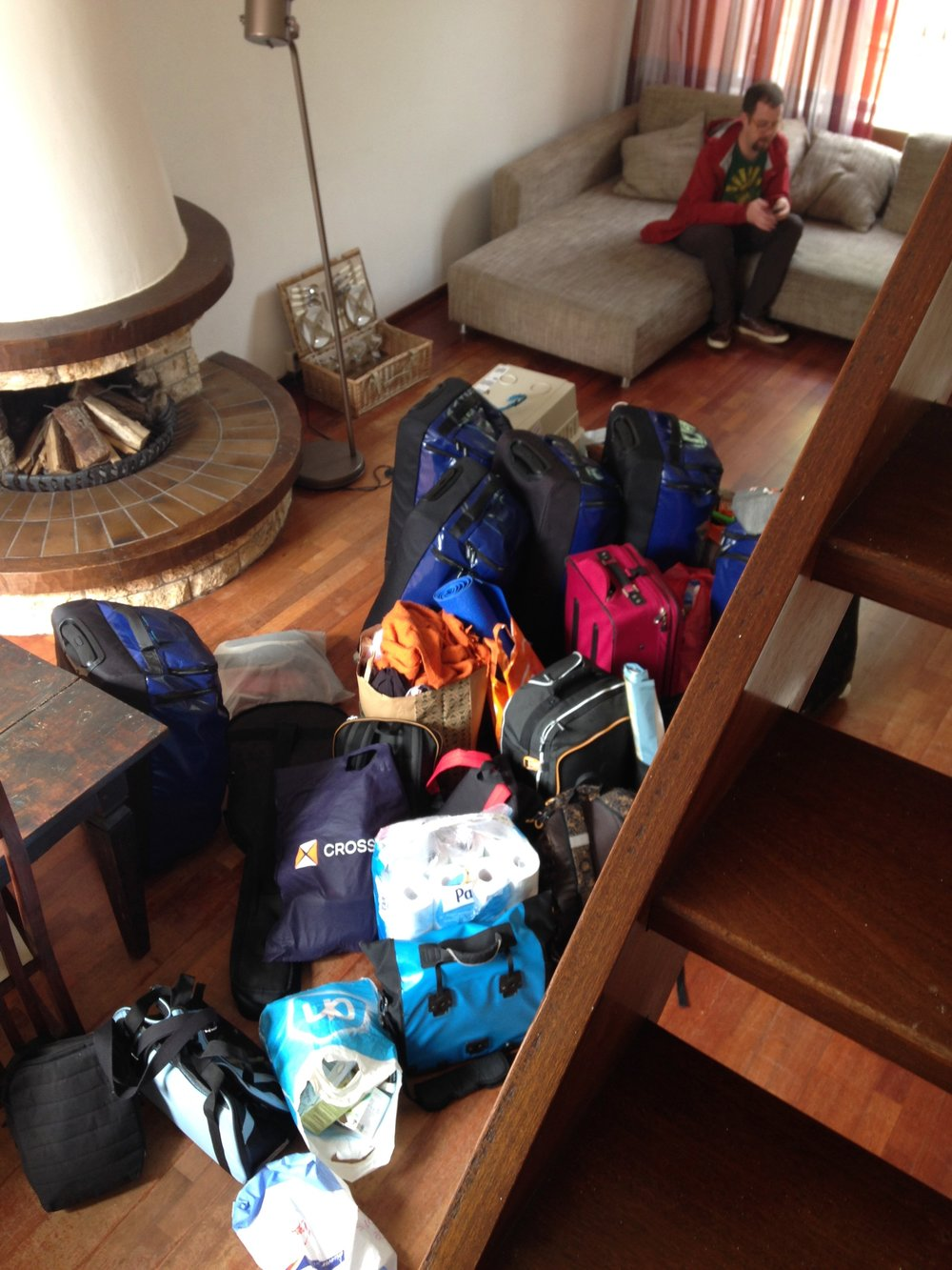 ALL of our belongings.