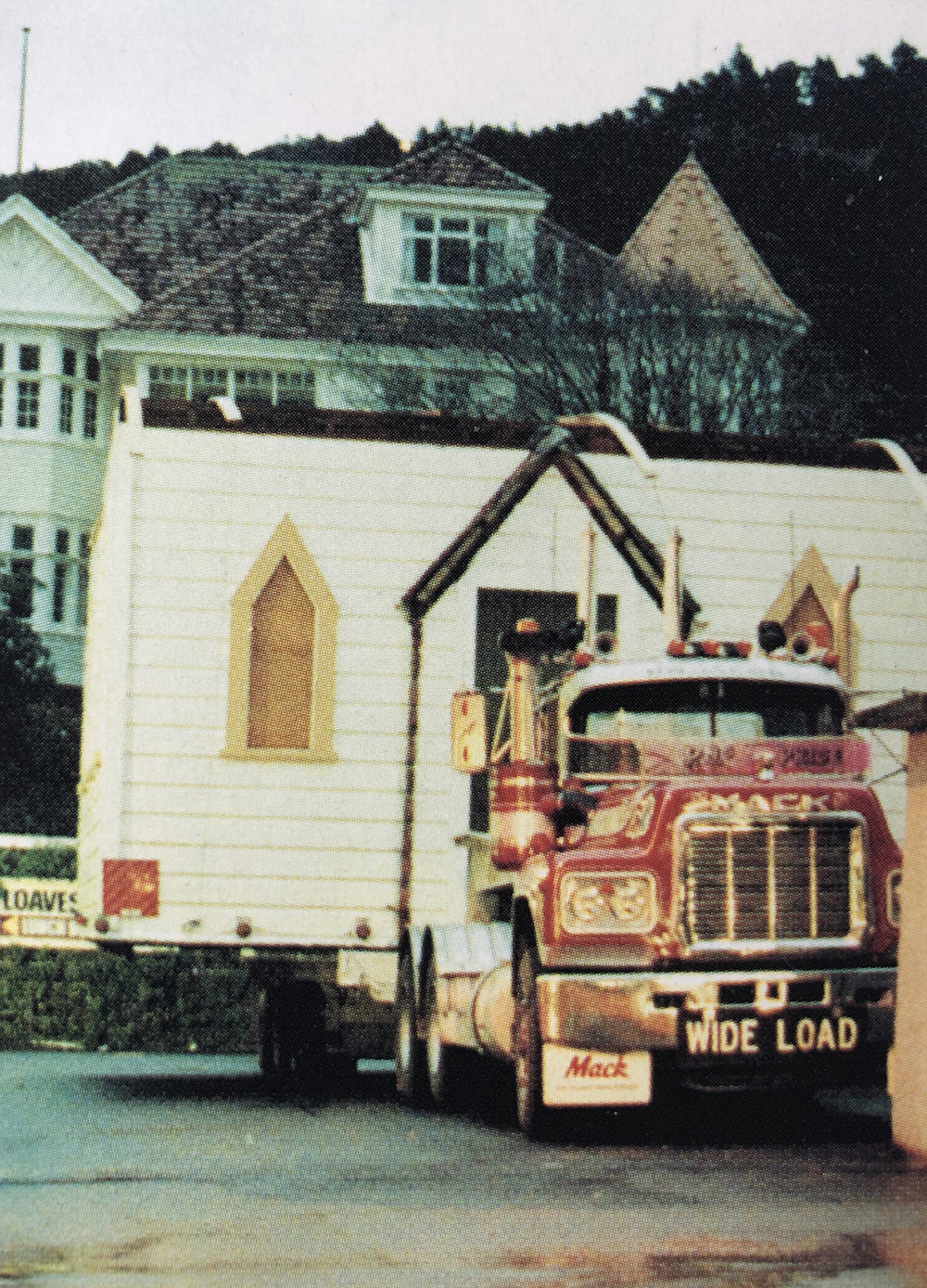 The chancel arrives as a wide load on a truck