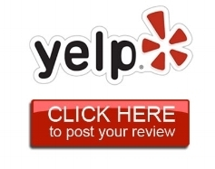 Our goal is great customer service; so please share your experience with us on Yelp -