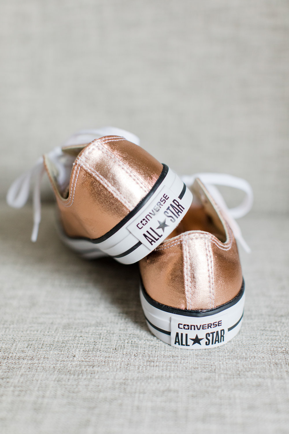 rose gold converse sneakers wedding shoes photographed by jaye kogut