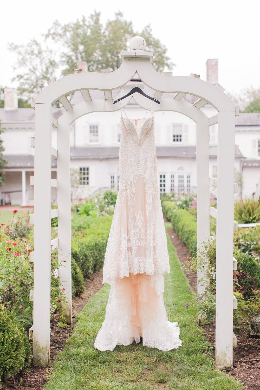 Calla Blanche blush lace wedding dress, castle couture wedding dresses