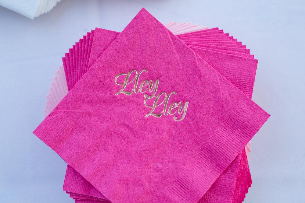 custom mitzvah napkins