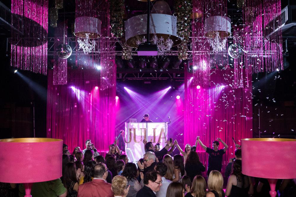 pink confetti bat mitzvah starland ballroom