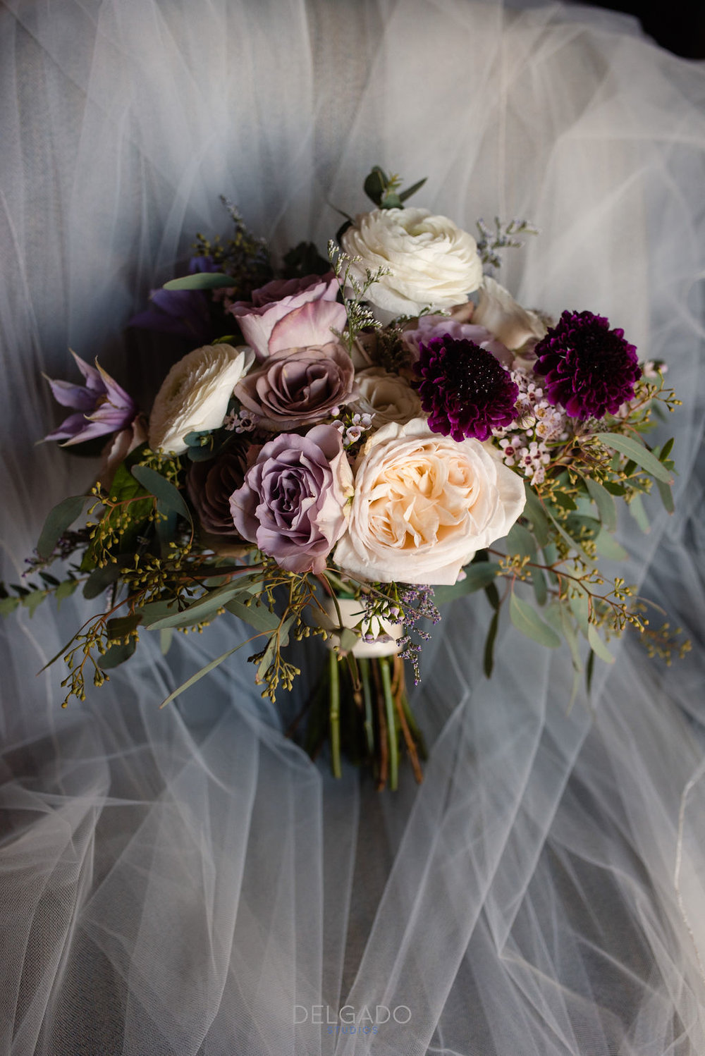 romantic fall bridal bouquet for modern traditional nj hotel wedding