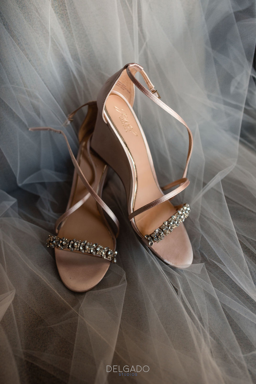 badgley mischka rhinestone bridal wedges