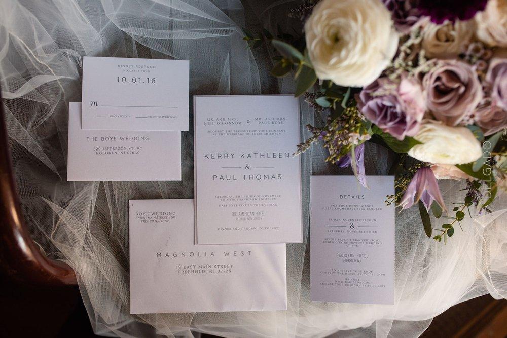 custom modern wedding invitations for nj hotel wedding