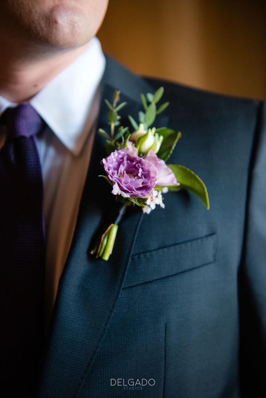 strange vine floral design boutonniere modern traditional wedding