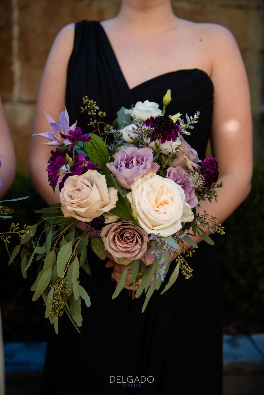 romantic fall bridesmaid bouquet