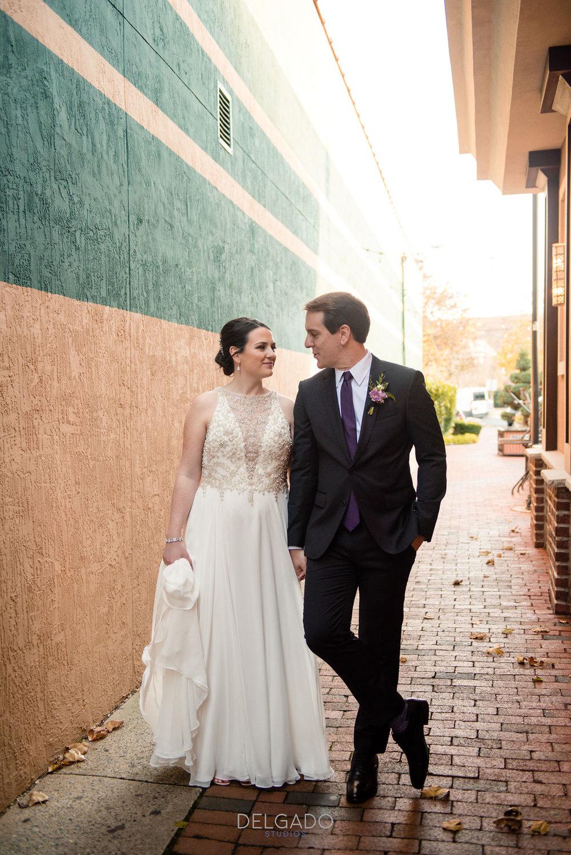 downtown modern wedding