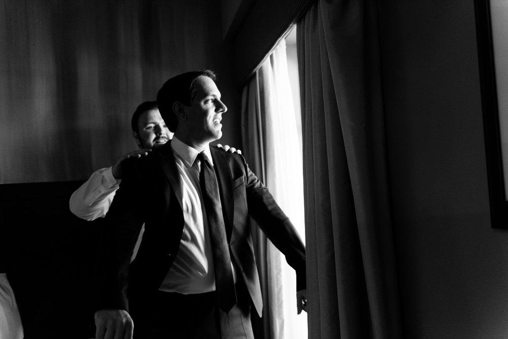 modern traditional american hotel wedding