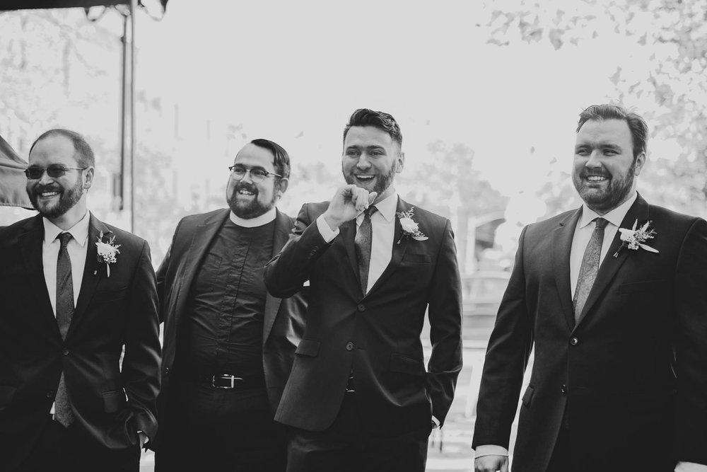 modern groomsmen