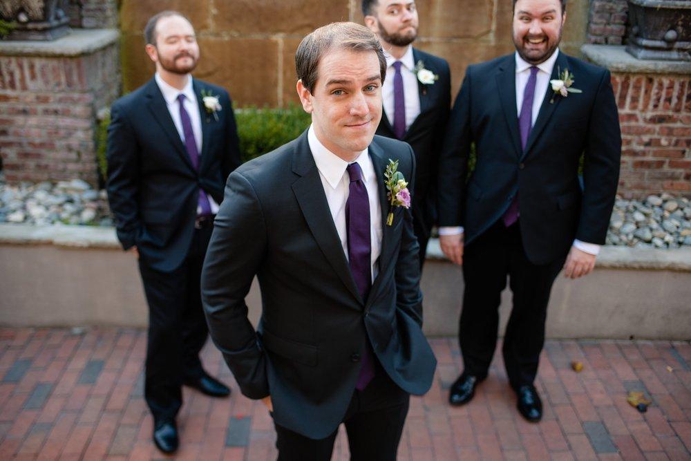 modern groom central nj wedding