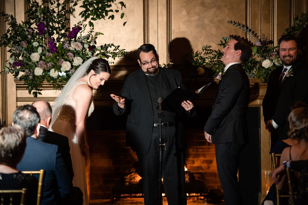 romantic fall wedding ceremony