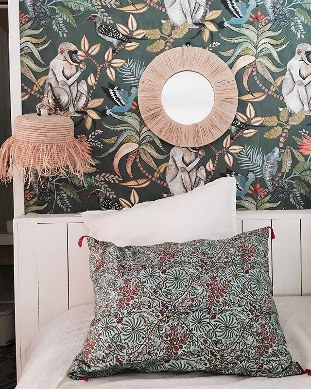 Jungle 🌿🐒 #marseille #southoffrance #decorationinterieur #interiordesign #beautifuldestinations #igrmarseille #wallpaper 📷 @billieblanket