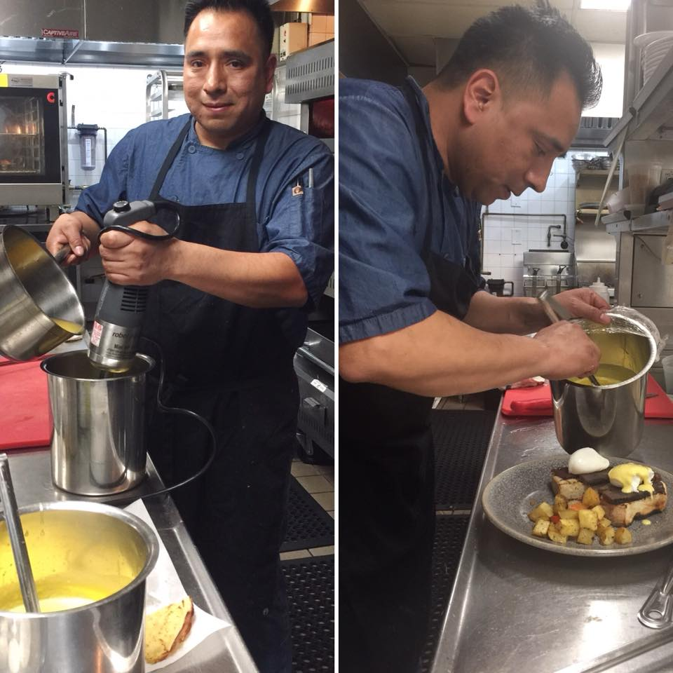 Martin Mendoza at work in the kitchen.