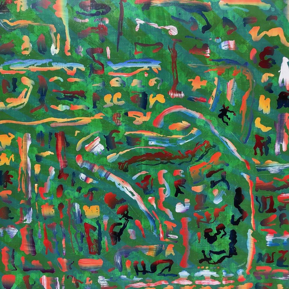 "Untitled   2018  30"" x 30""  Acrylic on panel"