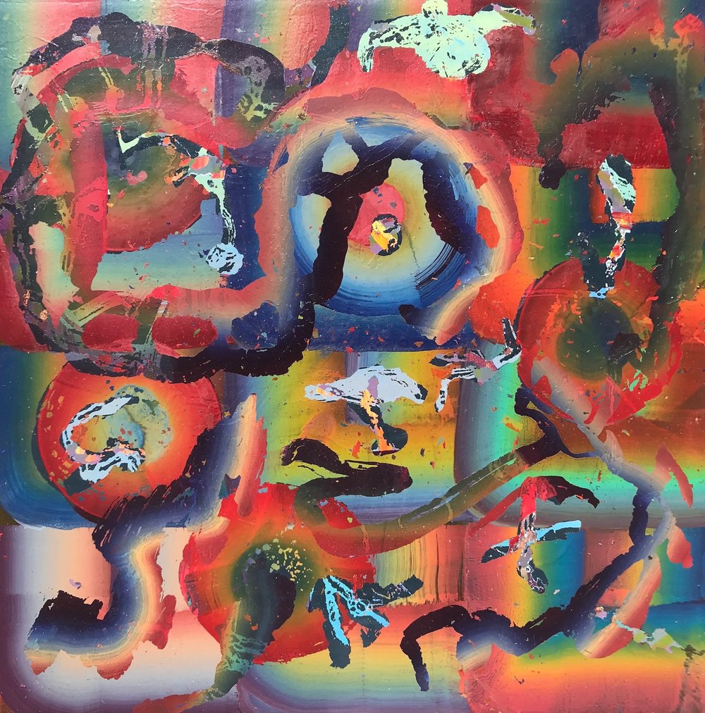 "Untitled   2018  12"" x 12""  Acrylic on panel"