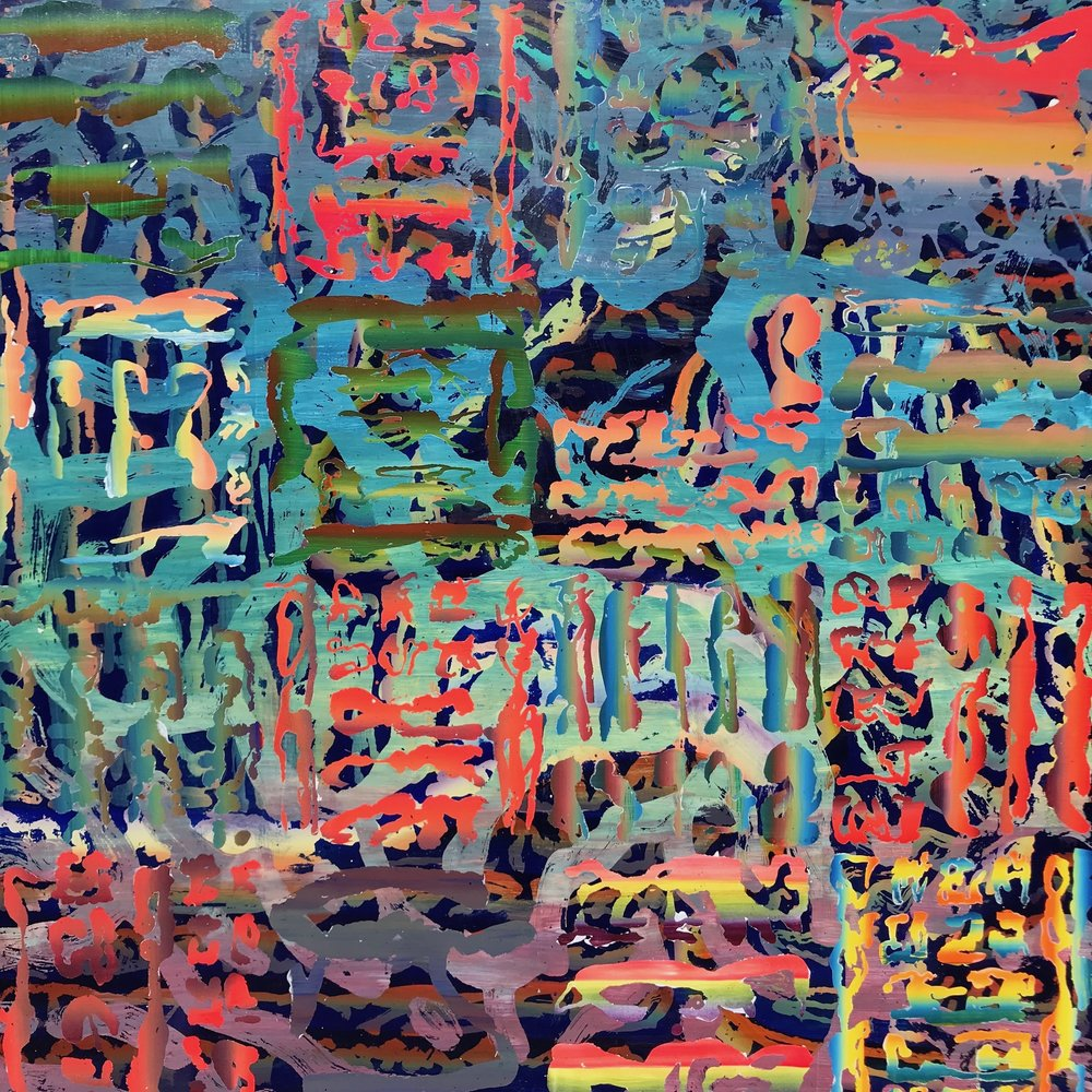 "Untitled   2018  36"" x 36""  Acrylic on panel"