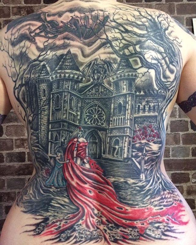 Back piece. #tattoo #torontotattoos #torontotattooartist #backtattoo #freshink #inkedmag #tattooideas #toronto