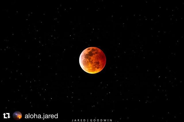 #Repost Jared Goodwin (@aloha.jared), one of the talented young #scientists featured in #inventingtomorrowmovie who captured this amazing #photograph of the #superbloodwolfmoon ・・・ We actually ended up forgetting about the lunar eclipse, but eventually pulled over on Saddle Road to photograph the Blood Moon. ・・・ #throwbackthursday  #tbt