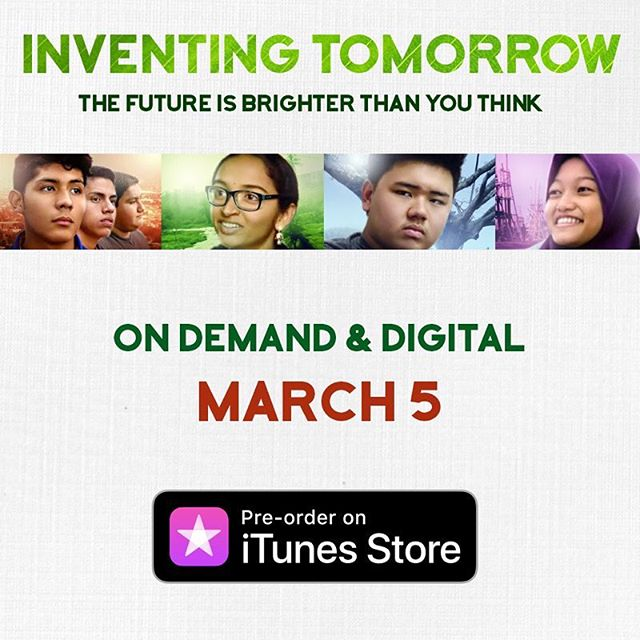 Have you heard the news?  #InventingTomorrowMovie will be On Demand & Digital March 5 in the 🇺🇸! #preorder the film NOW via @itunes!  Link in our bio!