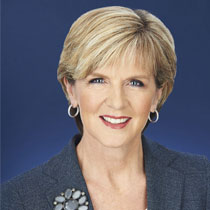 Hon Julie Bishop MP   Minister for Foreign Affairs, Australian Government