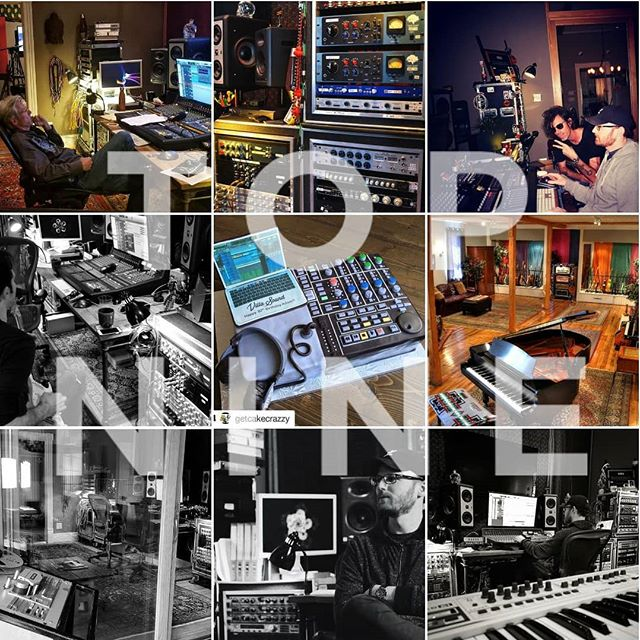 Top 9 posts of 2018. Wishing everyone the best in 2019! . . . #topnine2018 #recordingstudio #studiolife #studioporn #producer #recordingengineer #mixer #villasound