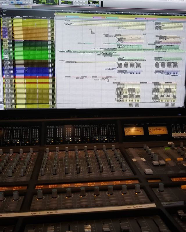 First mix of 2019. Here we go!! . . . #2019 #newyear #protools #solidstatelogic #mixing #recordingstudio#studiolife #recordingengineer #mixer #villasound