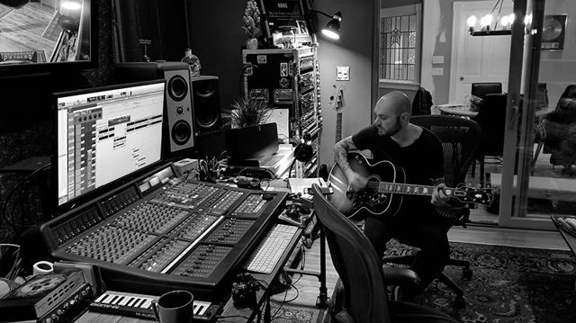 Some shots from yesterdays session with @mattomusic and @jefforsonmusic . . . #newmusic #countrymusic #gibson #solidstatelogic #barefootsound #recordingengineer #studiolife #recordingstudio #villasound