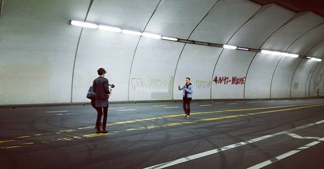 Shoot in downtown LA last night with @miragemusictheband and @frvnk . . . #videoshoot #losangeles #tunnel  #3am #musicvideo