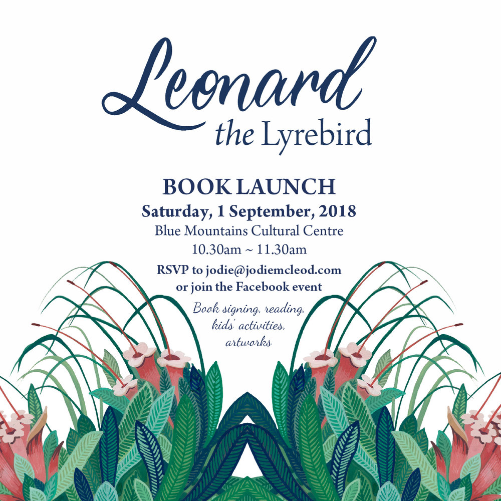 Leonard the Lyrebird Book Launch