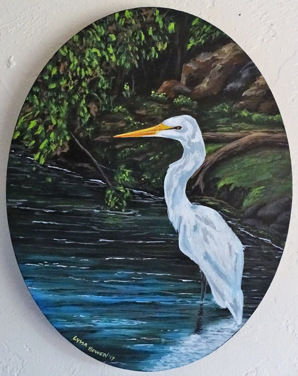 """Egret""  acrylic on canvas"