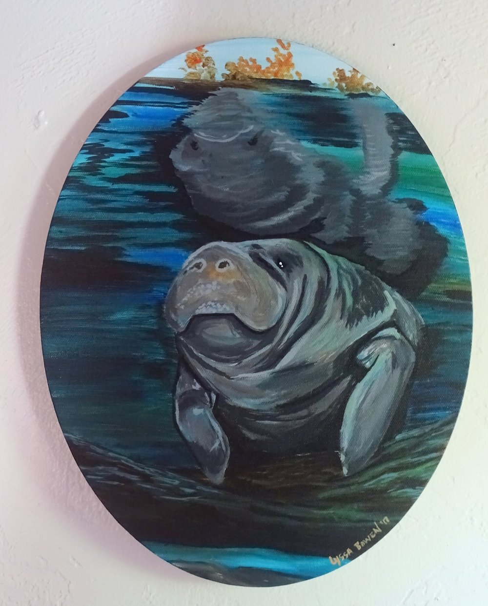 """Manatee""  acrylic on canvas"