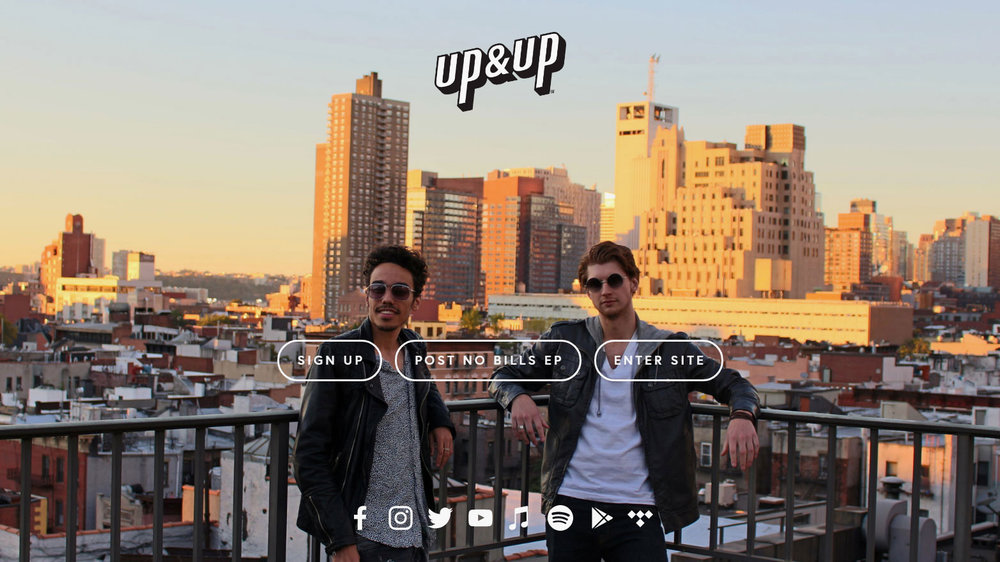 LANDING PAGE  FOR UP&UP OFFICIAL SITE