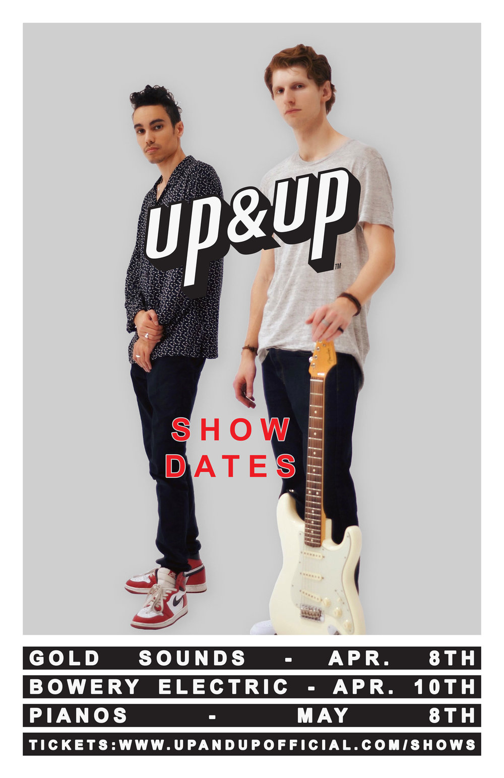 UP&UP SHOW DATES
