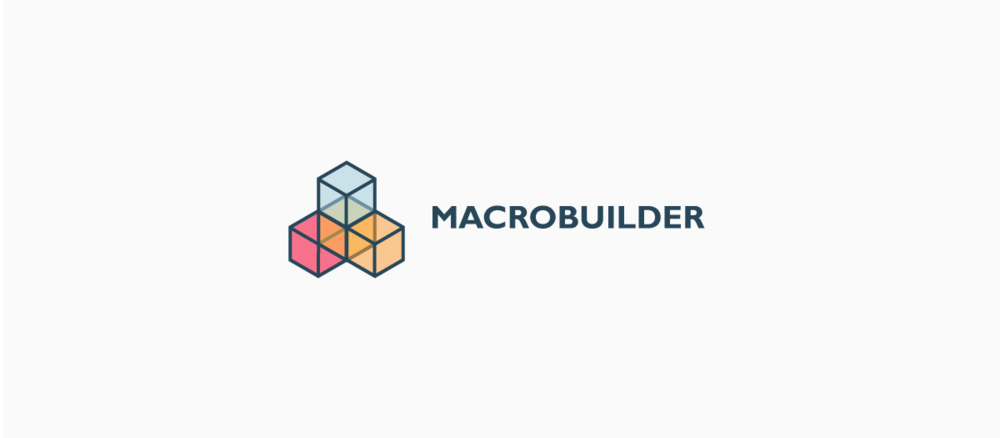 CONTENT: Logo Design  Created a simple iconic look for Macro Builder. All created in Illustrator.