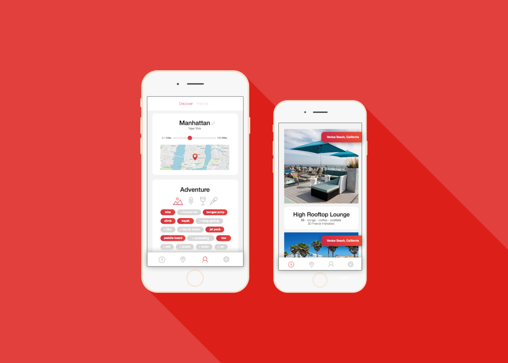 CONTENT: Mobile UI App Design  Worked on creating and designing the entire app for  Travel-Break.  This was the first round of designs to send off to investors. They got the investment!