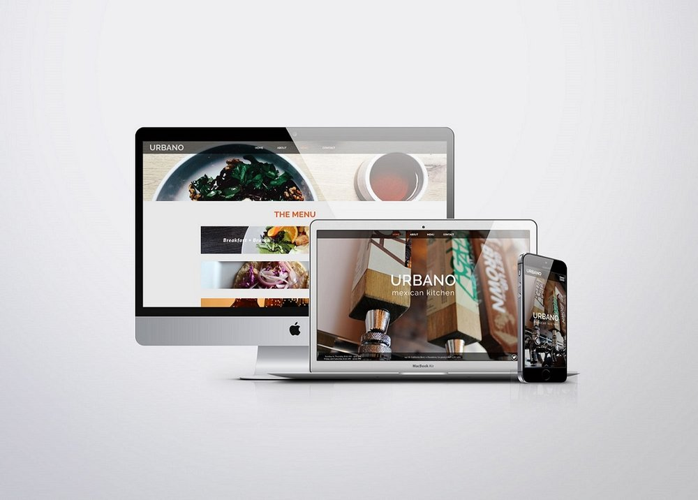 CONTENT: Web Design  Designed the entire Urbano website while collaborating with the developer and client.
