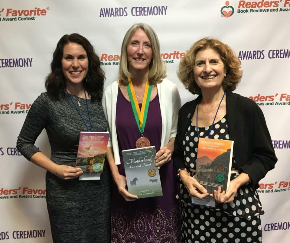 Laura Ponticello, Ann Campanella and Gilda Morina Syverson with their awarding winning books.